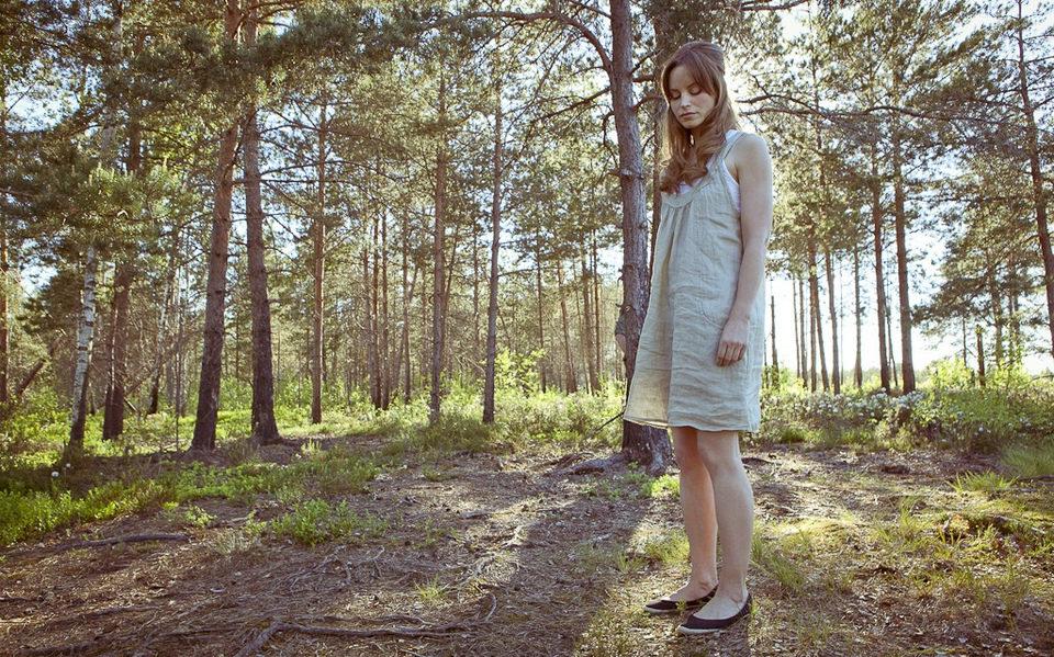 Katrine de Candole durante el rodaje de 'El cosmonauta'
