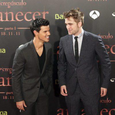 Taylor Lautner y Robert Pattinson presentan 'Amanecer: Parte 1' en España