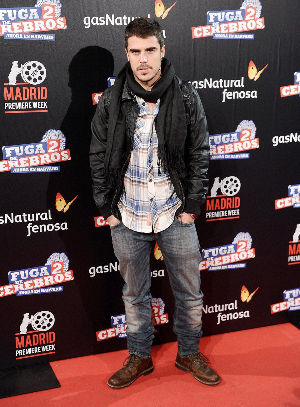 Javier Hernández en la premiére de 'Fuga de cerebros 2'