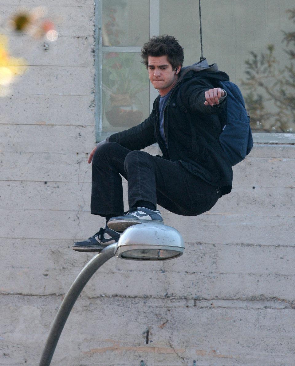 Andrew Garfield, concentrado en el set de 'The Amazing Spider-Man'