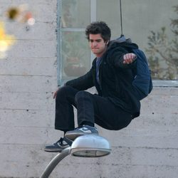 Andrew Garfield, concentrado en el set de 'The Amazing Spider-Man'