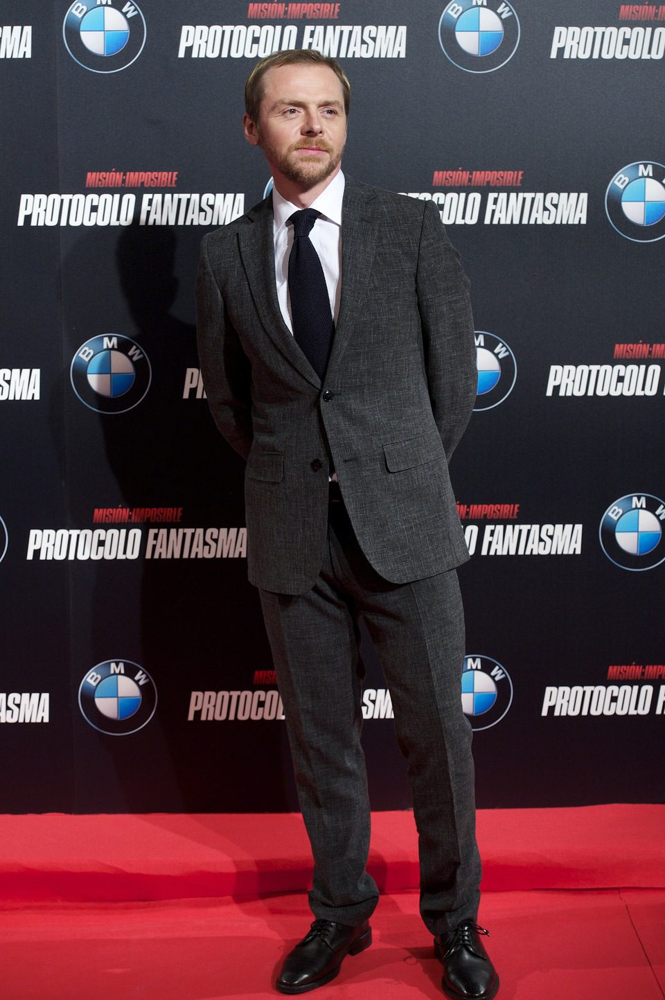 Simon Pegg en la premiére de 'Misión Imposible: Protocolo Fantasma' en Madrid