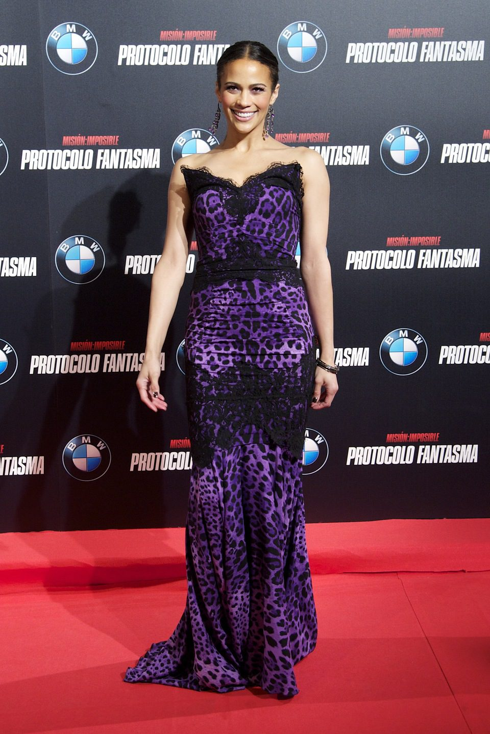 Paula Patton en la premiére madrileña de 'Misión Imposible'