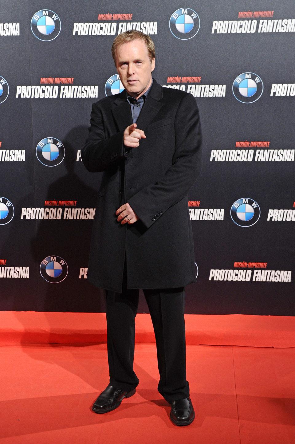 Brad Bird posa en la premiére madrileña de 'Misión Imposible: Protocolo Fantasma'