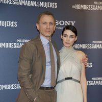 Daniel Craig y Rooney Mara en la premiere en Madrid de 'Los hombres que no amaban a las mujeres'