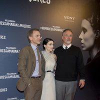 Daniel Craig, Rooney Mara y David Fincher en la premiere en Madrid de 'Los hombres que no amaban a las mujeres'