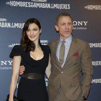 Rachel Weisz y su marido Daniel Craig en la premiere en Madrid de 'Los hombres que no amaban a las mujeres'