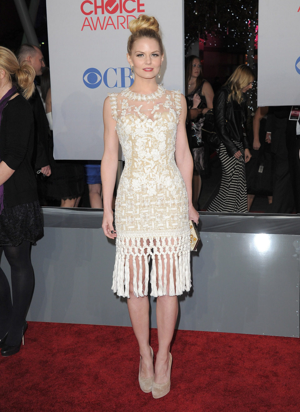 Jennifer Morrison en el photocall de los People Choice Awards 2012