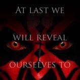 La cara de Darth Maul en el póster de 'Star Wars Episodio I: La amenaza fantasma 3D'