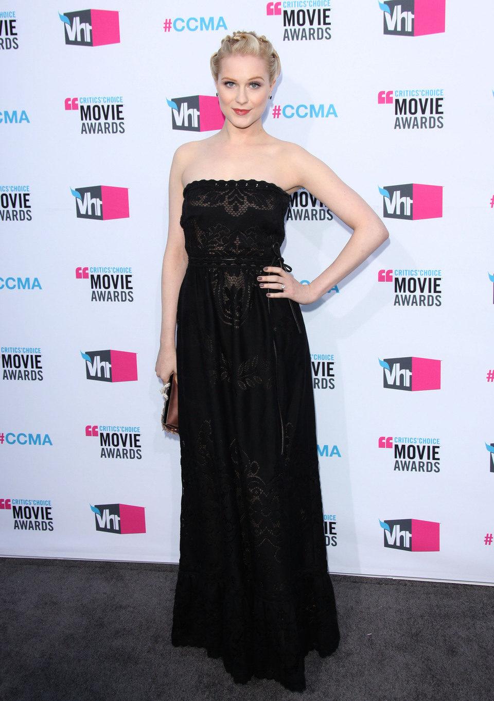 Evan Rachel Wood en la alfombra roja de los Critics' Choice Awards 2012