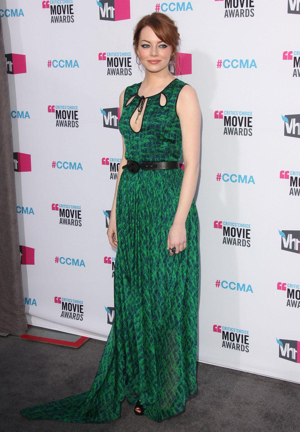 Emma Stone en los Critics' Choice Awards 2012