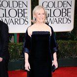 Glenn Close llega a los Globos de Oro 2012