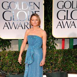 Jodie Foster posa a la entrada de los Globos de Oro 2012