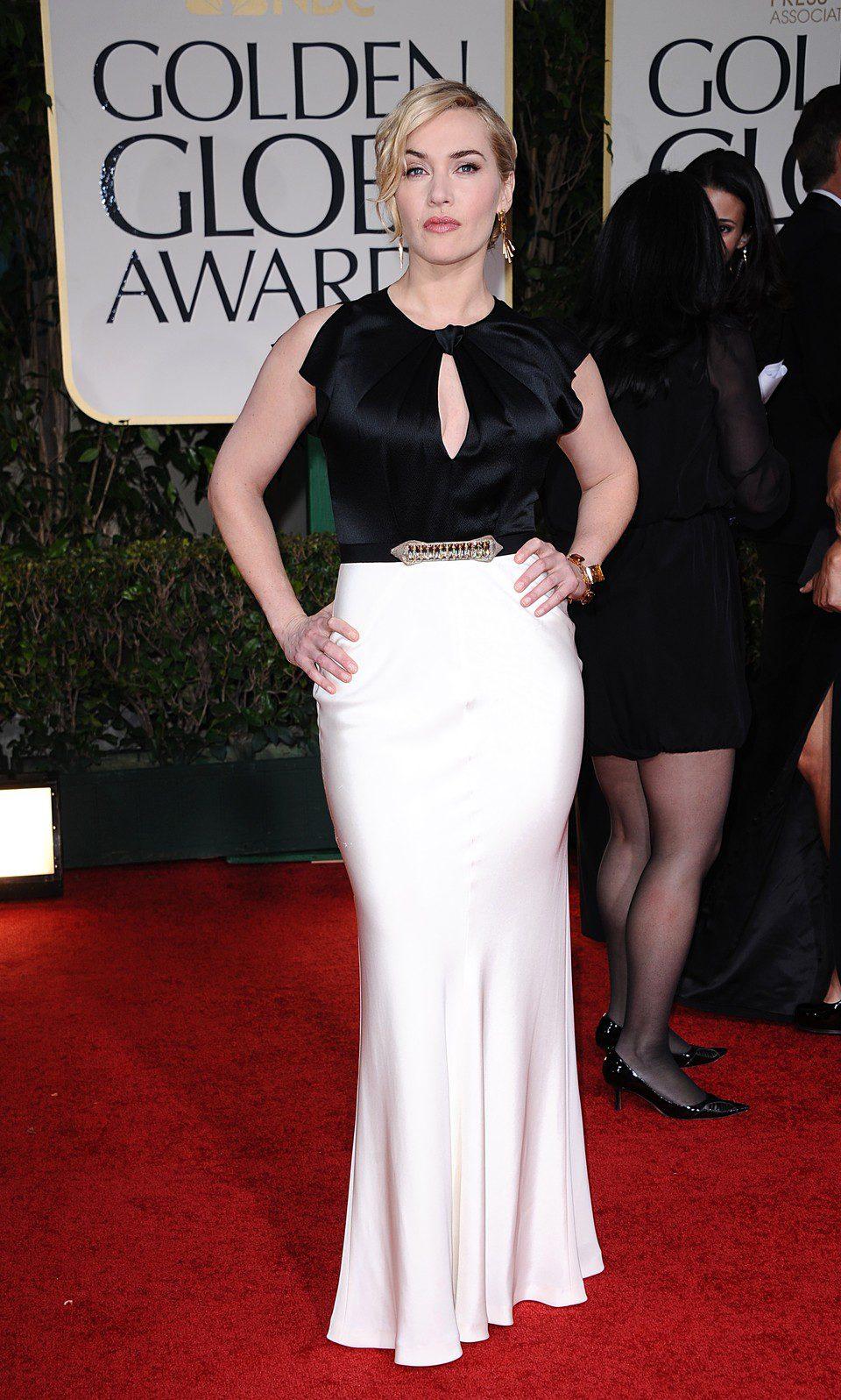 Kate Winslet en la alfombra roja de los Globos de Oro 2012
