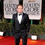 Leonardo DiCaprio en la alfombra roja de los Globos de Oro 2012