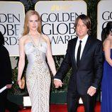 Nicole Kidman y Keith Urban en la alfombra roja de los Globos de Oro 2012