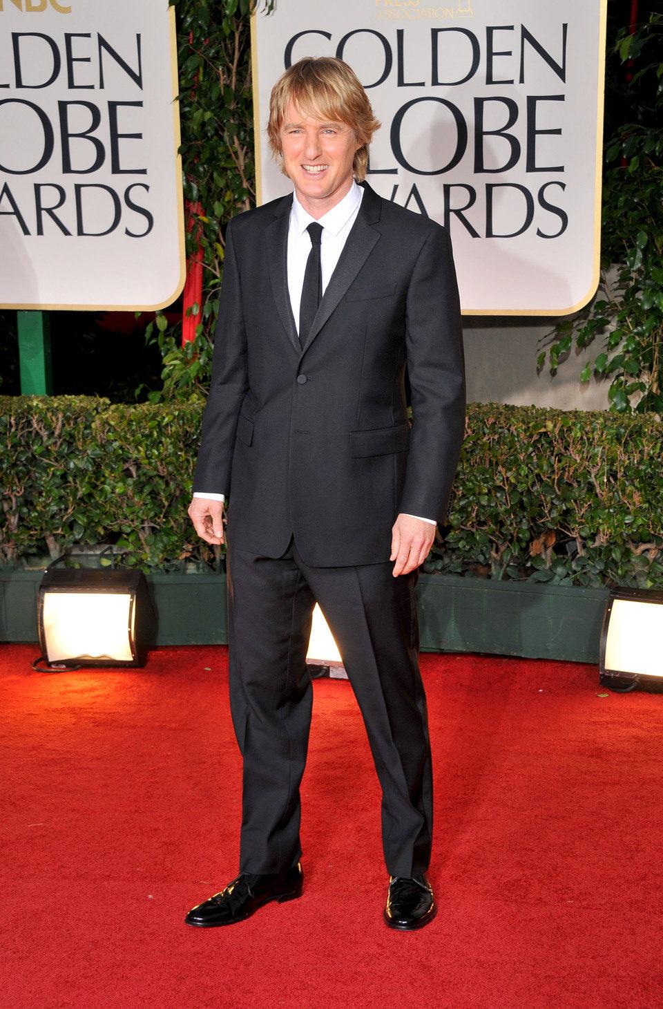 Owen Wilson en el photocall de los Globos de Oro 2012