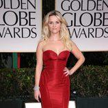 Reese Witherspoon en la alfombra roja de los Globos de Oro 2012
