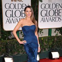 Sofia Vergara llega a los Globos de Oro 2012