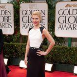 Claire Danes en la alfombra roja de los Globos de Oro 2012