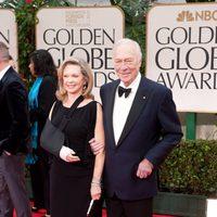 Christopher Plummer en la alfombra roja de los Globos de Oro 2012