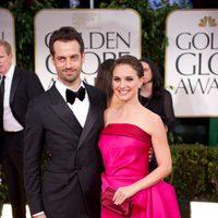 Natalie Portman y su marido en los Globos de Oro 2012