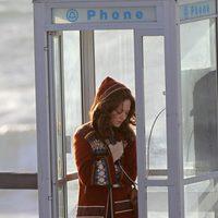 Amanda Seyfried graba una escena de 'Lovelace' en una cabina