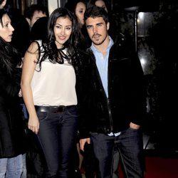 Giselle Calderón y Javier Hernández en la premiére de 'Promoción fantasma'