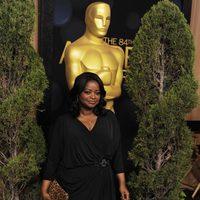 Octavia Spencer en la comida de nominados a los Oscar 2012