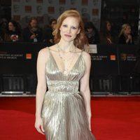 Jessica Chastain llega a los BAFTA 2012