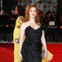 Christina Hendricks llega a los premios BAFTA 2012
