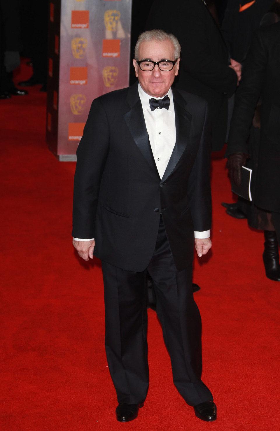 Martin Scorsese posa a la entrada de los premios BAFTA 2012