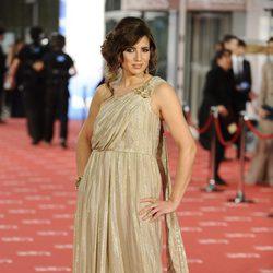 Lucía Jiménez en la alfombra roja de los Goya 2012