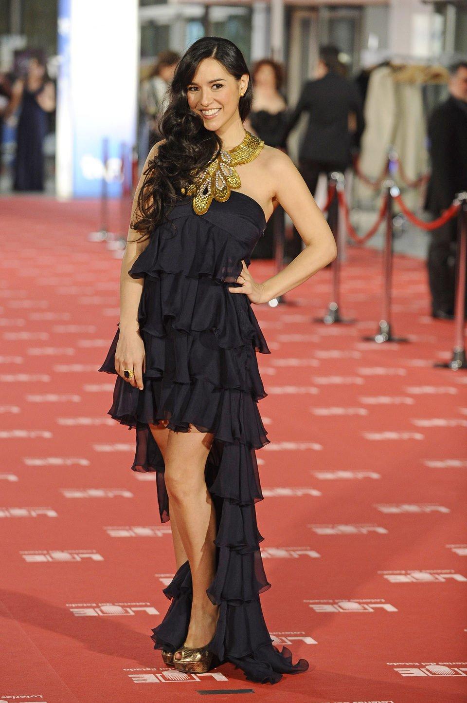 Cristina Brondo en la alfombra roja de los premios Goya 2012