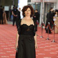 Icíar Bollaín posa a la entrada de los Goya 2012