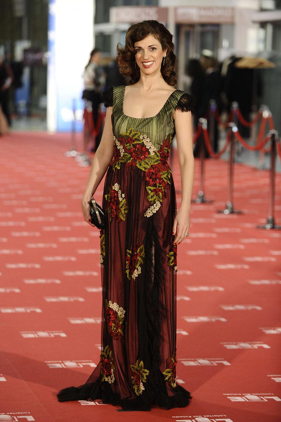 Ruth Gabriel en la alfombra roja de los Goya 2012