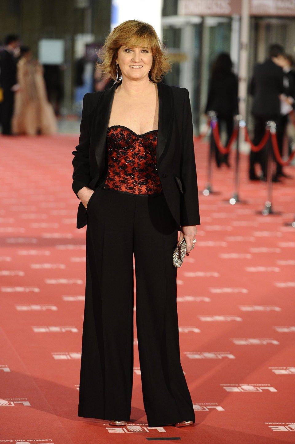 Ana Wagener en la alfombra roja de los Goya 2012