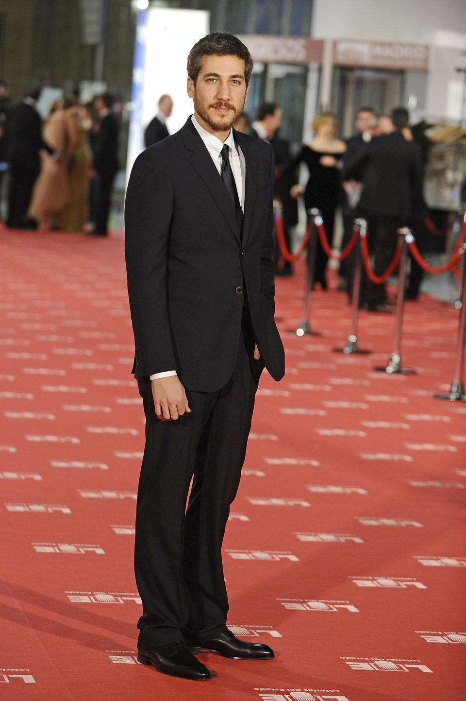 Alberto Ammann en la alfombra roja de los Goya 2012
