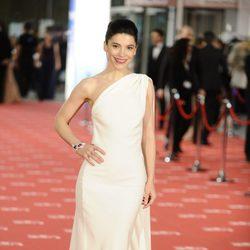 Irene Visedo en la alfombra roja de los Goya 2012