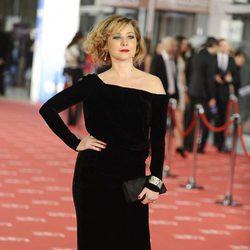 Pilar Castro en la alfombra roja de los Goya 2012