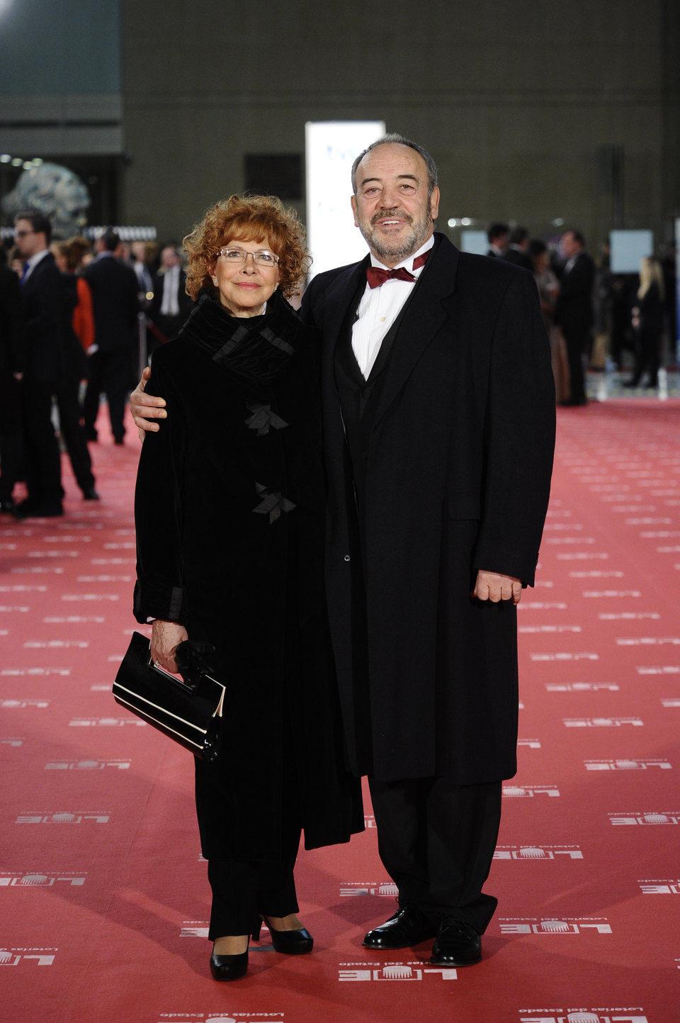 Tito Valverde y María Jesús Sirvent en los Goya 2012