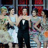 Belén Rueda, Manuela Velasco, Eva Hache, Lucia Jiménez y Victoria Abril cantan en los Goya 2012