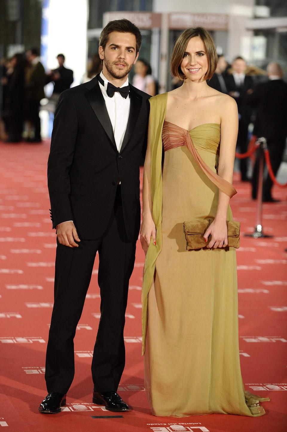Marc Clotet y su hermana en los Goya 2012