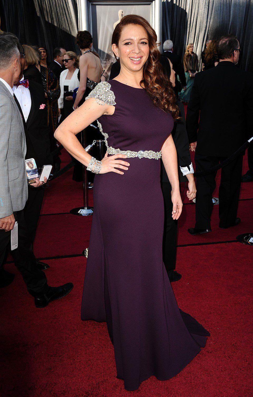 Maya Rudolph en la alfombra roja de los Oscar 2012