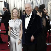 Christopher Plummer en la alfombra roja de los Oscar 2012