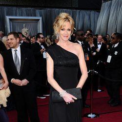 Melanie Griffith en la alfombra roja de los Oscar 2012