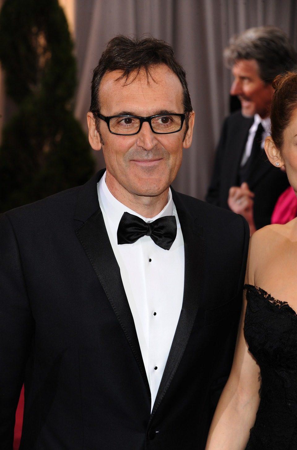 Alberto Iglesias en la alfombra roja de los Oscar 2012