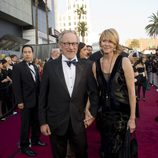 Steven Spielberg en la alfombra roja de los Oscar 2012