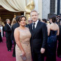 Kenneth Brannagh en la alfombra roja de los Oscar 2012