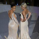 Jennifer Lopez y Cameron Diaz muestran su trasero en los Oscar 2012
